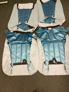 1966 Chevelle Bright Blue Front Buckets Seat Covers Pui In Stock
