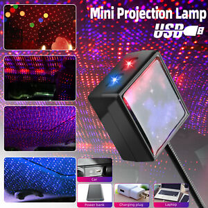 Usb Car Interior Roof Atmosphere Starrry Sky Lamp Led Projector Star Night Light