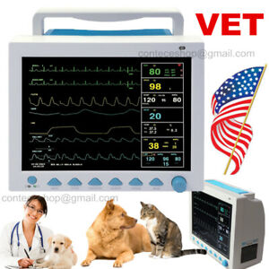 Veterinary Patient Monitor Icu Vital Signs 7 parameter With Recorder Printer Us