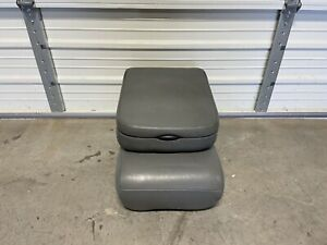 2002 2008 Dodge Ram 1500 2500 3500 Front Center Jump Seat Console Gray Vinyl