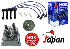 For Acura Integra B18b1 Ngk Blue Tune up Kit Cap Rotor Spark Plug Wire Set Kit