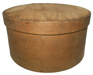Early Mid 19th C American Antique Primitive Bentwood Pine 8 5 Pantry Box W Lid
