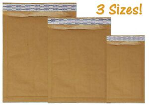 Brown Kraft 4x8 6x10 8x12 Padded Shipping Bubble Mailers Envelopes Combo Pack