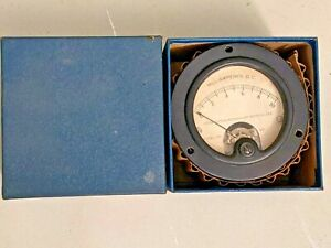 Vintage Weston 0 10 Milliamperes Panel Meter With Box Model 301 Navy Spec
