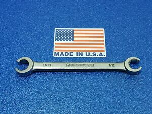 Vintage Armstrong 1 2 X 9 16 Flare Nut Line Wrench 28 435 Outstanding Condition