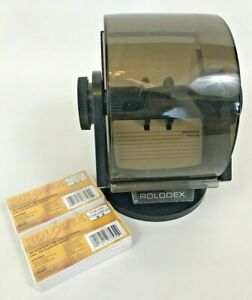Vintage Rolodex Circular Index File Phone Address File Cards Rotary Refills