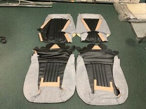1971 72 Chevelle Bucket Seat Covers Black Pui 71as10u In Stock