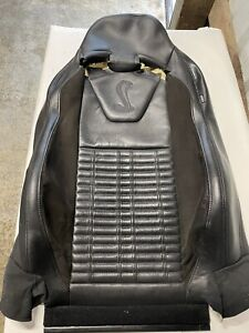 2010 14 Ford Mustang Shelby Gt500 Recaro Leather Oem Driver Upper Seat Skin