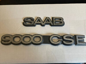Saab 9000 Turbo Cse Rear Trunk Plastic Genuine Saab Emblems Set Of 2