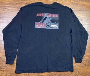 Vintage Bmw Long Sleeve Shirt Xl Black G1