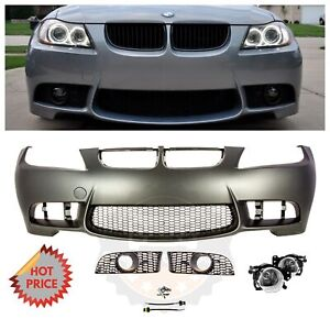 2006 08 E90 M3 Style Front Bumper For Bmw 3 Series W Crystal Clear Fog Lights