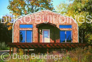 Durospan Steel 32 x50 x18 Metal She Shed Man Cave Building Kit Open Ends Direct