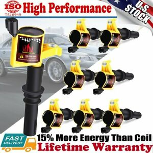 8 Pack Ignition Coil For Ford F 150 4 6l 5 4l V8 Triton 2004 2005 2006 2007 2008