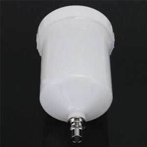 White Plastic Spray Tool Cup Pot White Qcc Connector For Satajet Replacement