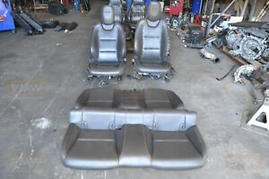 10 11 Camaro Ss Black Leather Bucket Seats Front Rear