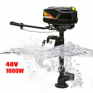 48v 1kw 1000w Outboard Motor Jet Pump Fishing Boat Brushless Engine Till Control