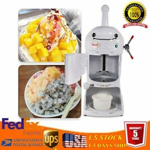 110v Commercial Ice Shaver Machine Snow Cone Maker Electric Crusher Shaving Usa