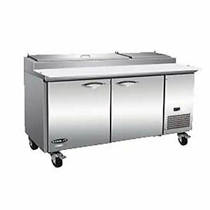 Ikon Ipp71 70 Two Section Refrigerated Pizza Prep Table 22 Cu Ft