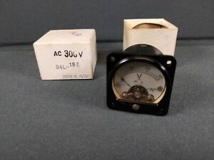 Vtg Nos Micronta Panel Meter No 94l 185 300volts Ac New Old Stock Mini 1 5 8