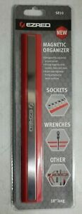 Ez Red 10 Long Magnetic Wrench Tool Holder Organizer Red Sr10