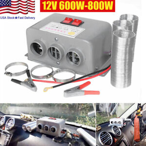 600w 800w 12v Car Fan Heater Defroster Cooler Dryer Demister Portable Heating