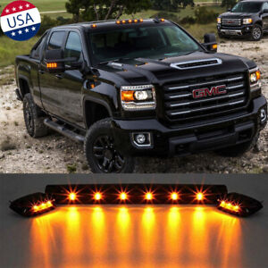 3pcs Amber Led Cab Roof Marker Top Lights For Gmc Serria 1500 2500 3500