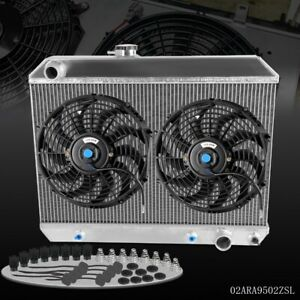 For 1965 1967 Pontiac Gto tempest lemans Performance Aluminum Radiator 12 Fan