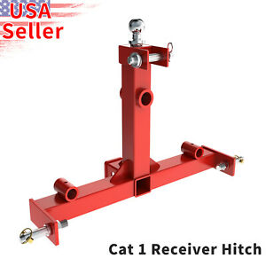 3 Point Cat 1 Drawbar Receiver Trailer Hitch One Tractor Tow Adapter Heavy Duty