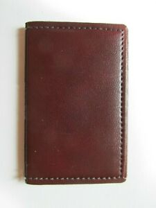 Vintage Genuine Brown Leather Hazel Personal Business Card Holder