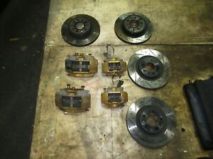 Nissan 350z Brembo Brakes Calipers Disc Slotted Rotors Pads 350z