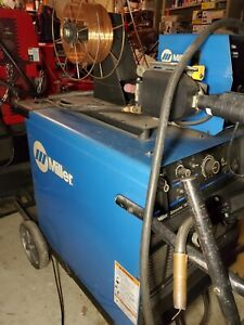 Miller Dimension 302 Welder 60 Series Feeder On Cart