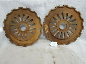 2 Cast Iron Ih International Mccormick Corn Seed Planter Plates 1978a 16 Cell 2