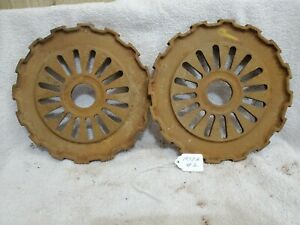 2 Cast Iron Ih International Mccormick Corn Seed Planter Plates 1977a 16 Cell 2