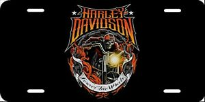 Harley Davidson Forever Two Wheels License Plate New Car Tag Metal Aluminum