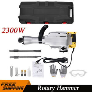 2300w Electric Rotary Hammer Drill Chisels With Vibration Control Concrete Break