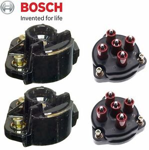 For Mercedes R129 W124 500e Oem Set Of 2 Distributor Cap W 2 Ignition Rotor New