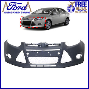 Front Bumper Cover Primed 2012 2013 2014 Ford Focus Sedan Hatchback W Tow Hole