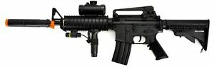 Electric Airsoft Rifle Toy Heavy Weight With Grip amp; Accessories NEW $48.95