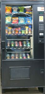 Ams Combination Canned Soda snack Vending Machine Great For Small Location