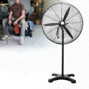 Electric 30 120v 60hz Floor Pedestal Fan Commercial Industrial Stainless 180w