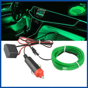 200cm Green Led Car Interior Decorative Atmosphere Wire Strip Light Lamp