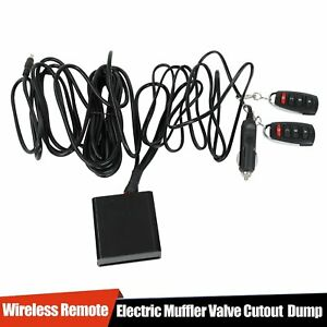 Electric Exhaust Muffler Valve Cutout System Dump Wireless Remote New