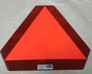 Aluminum Slow Moving Vehicle Alert Sign Triangle Tractor Trailer Caution