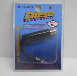 Diesel Electronics 75 Ohm To 300 Ohm Rf Tv Antenna Adapter