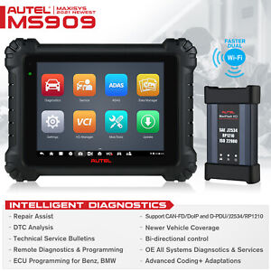 Autel Maxisys Ms909 Elite Obd2 Auto Diagnostic Scan Tool Ecu Programming Mk908p