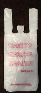 1000 Thank You Plastic Shopping Bags