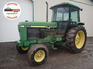 1990 John Deere 2955 Tractor Cab 2wd 3 Point 540 Pto Heat A c Radio 97 Hp