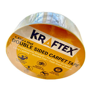 Carpet Tape 1 88in 30yd Roll For Rugs Mats Pads Gripper Double Sided Adhesive