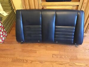 99 04 Mustang Gt Convertible Rear Seat Black Leather Top Seat