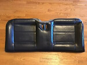 99 04 Mustang Gt Convertible Rear Seat Bottom Black Leather